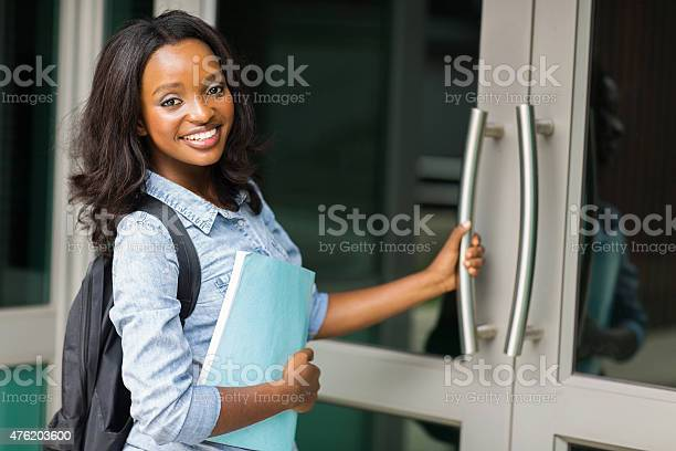 African female college student going to lecture hall picture id476203600?b=1&k=6&m=476203600&s=612x612&h=k8j4mtcup1muxxavqgwrk71yabosmwztemlzv87amna=