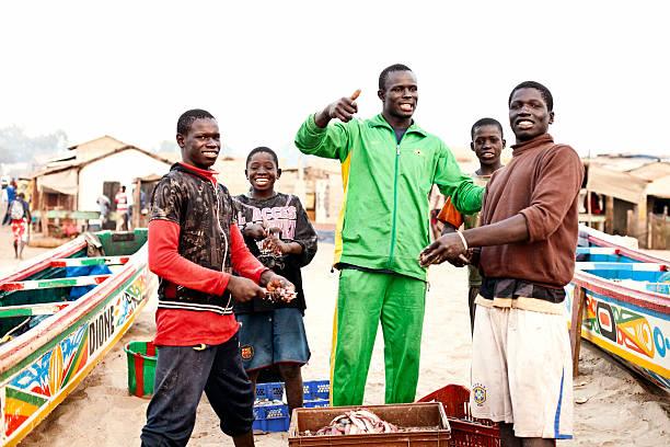 African fishermen stock photo