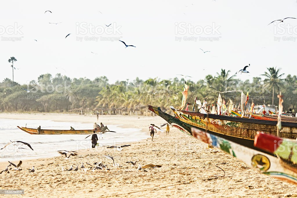 African fishing boats. stock photo