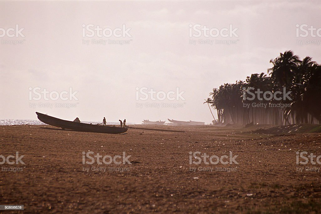 african fishingboats stock photo