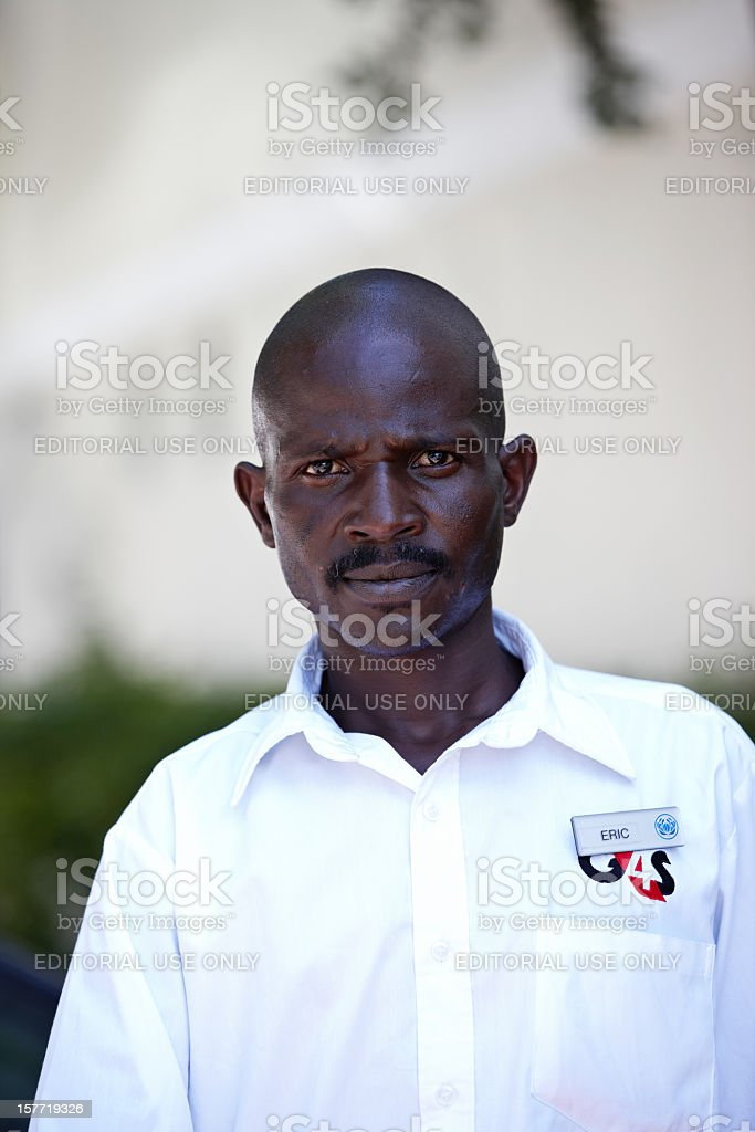 African G4S security guard royalty-free stock photo