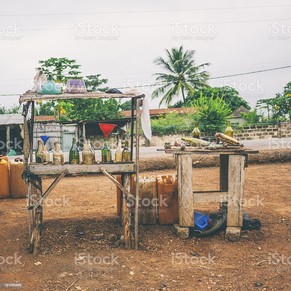 African gas station. stock photo