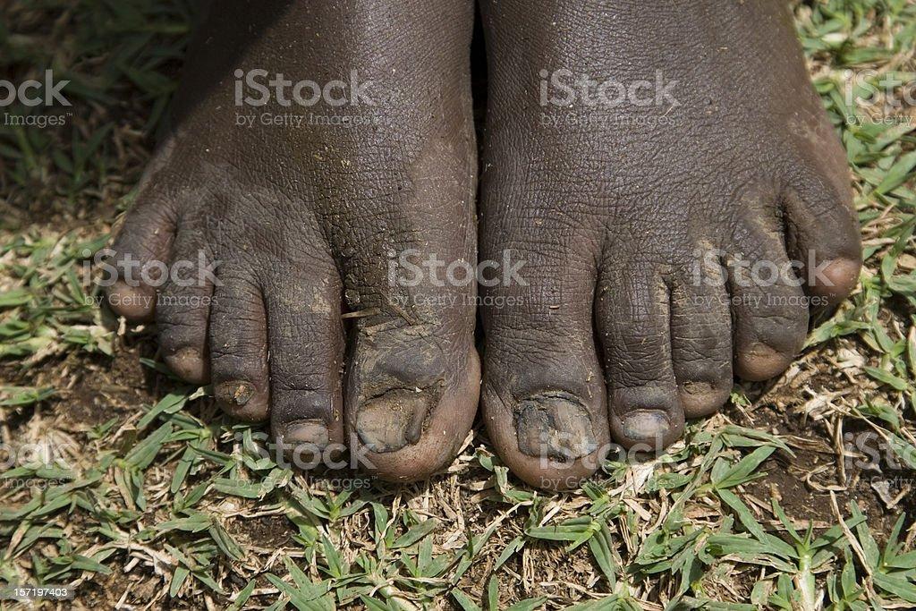 Nackte Mädchen nackte Füße