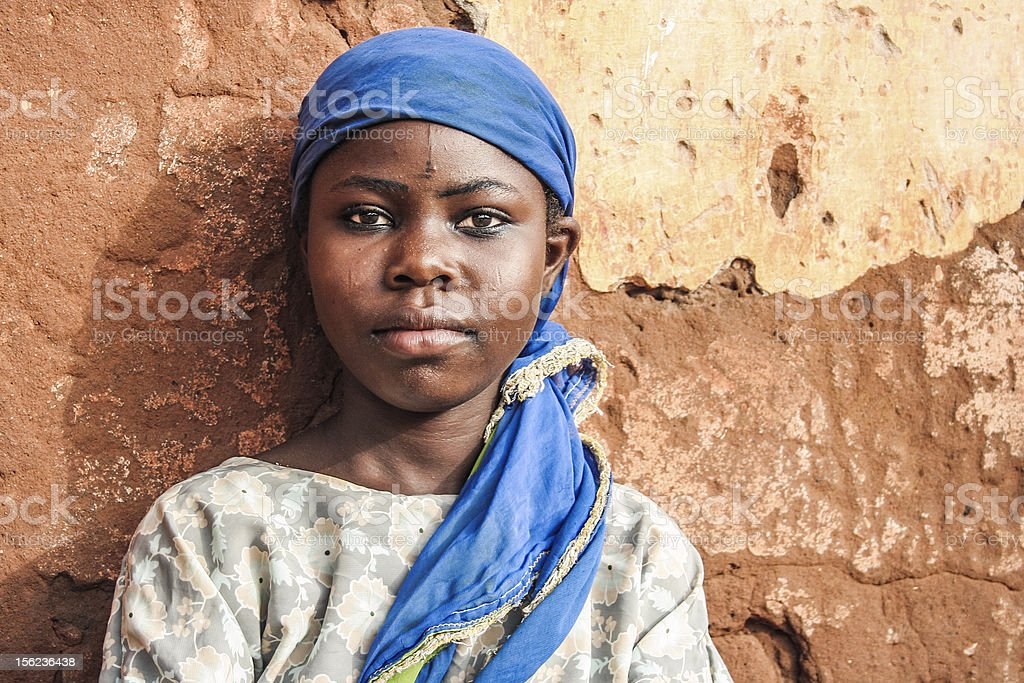 African girl portrait. stock photo