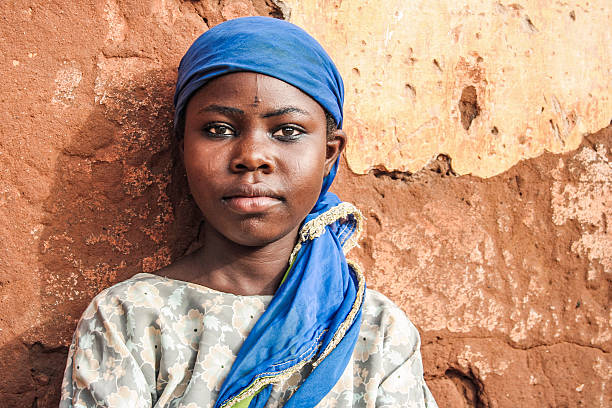 African girl portrait. stock photo