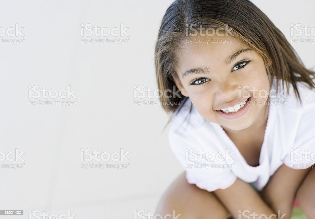 African girl smiling royalty-free stock photo