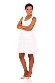 istock african girl with arms crossed 496736424