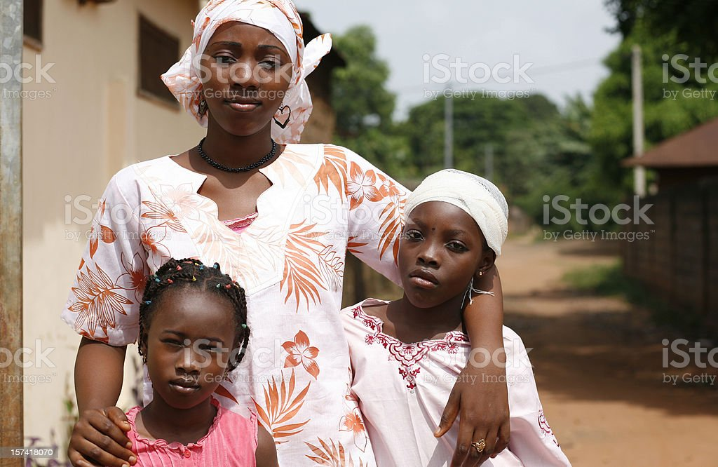 african girls stock photo