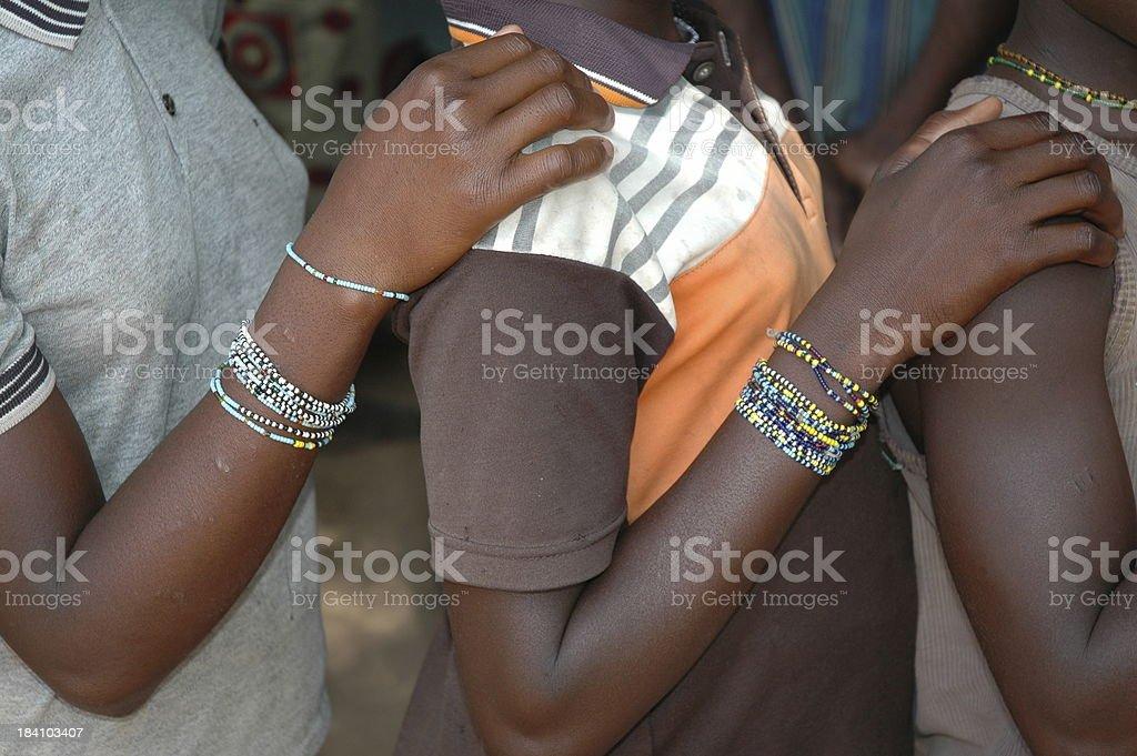 African Girls Waiting royalty-free stock photo