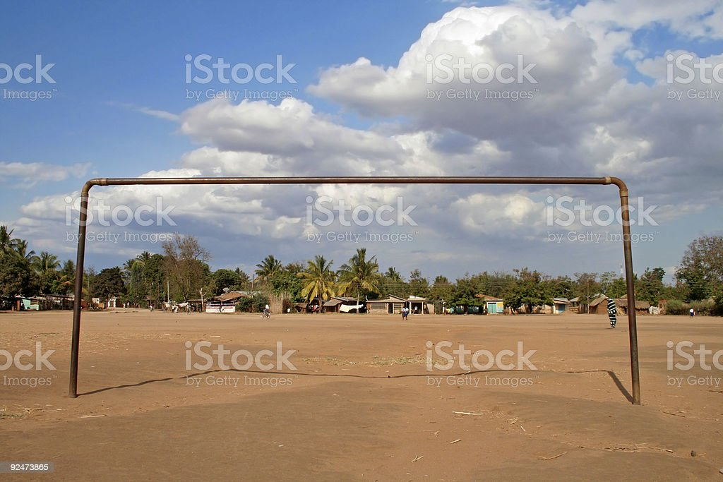 African goal royalty-free stock photo