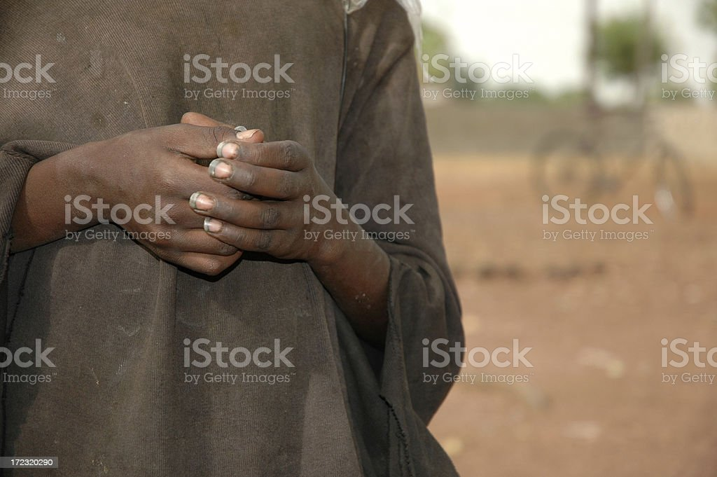 African Hands (holding something) royalty-free stock photo