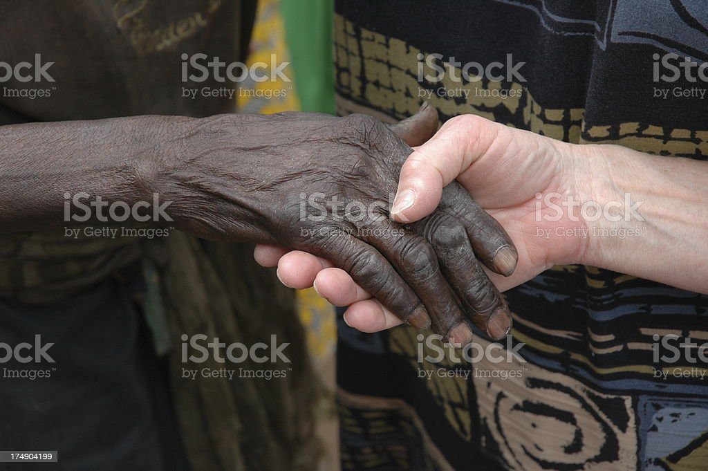 African Handshake royalty-free stock photo