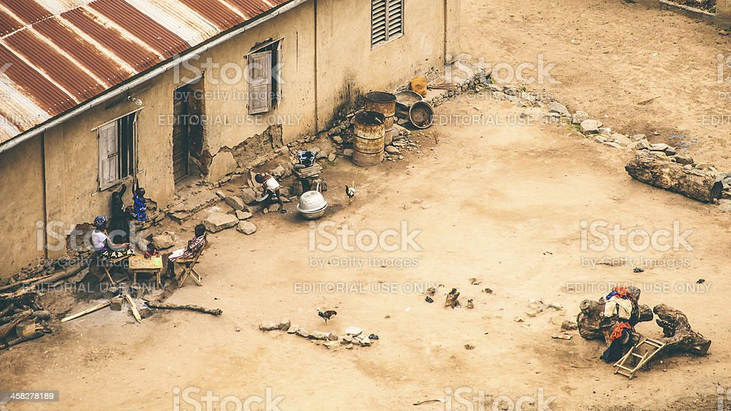 African home. stock photo
