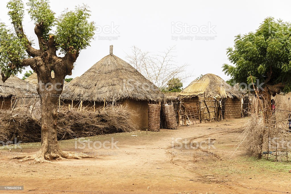 African huts royalty-free stock photo