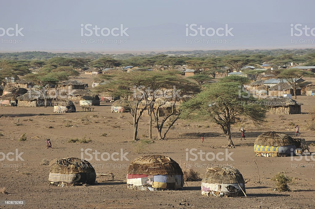 African huts​​​ foto