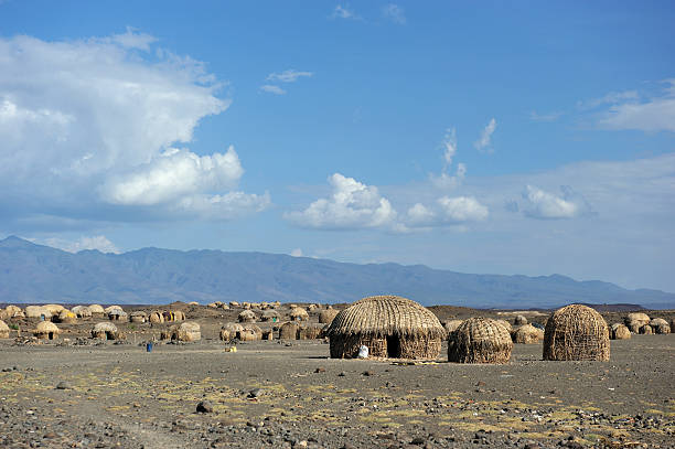 African huts foto