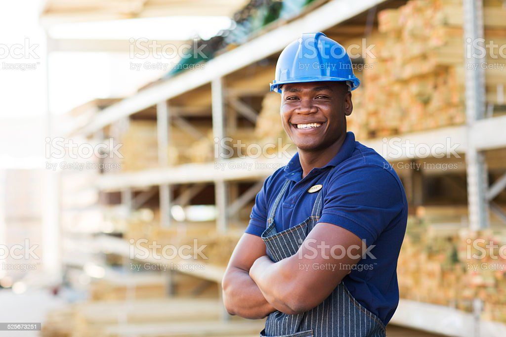 african industrial worker stock photo