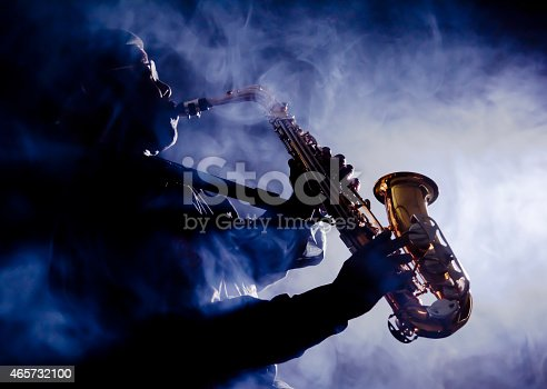 African jazz musician playing the saxophoneAfrican jazz musician playing the saxophone