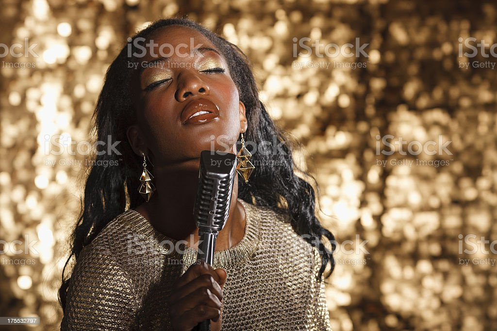 African Jazz Singer stock photo