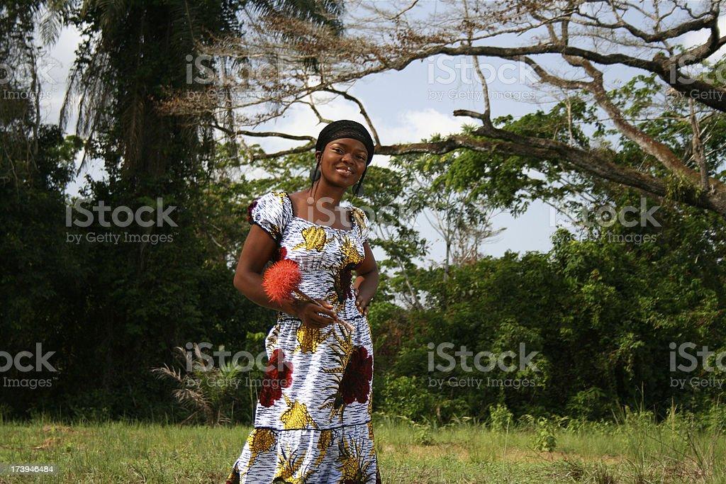 African Jungle Beauty stock photo