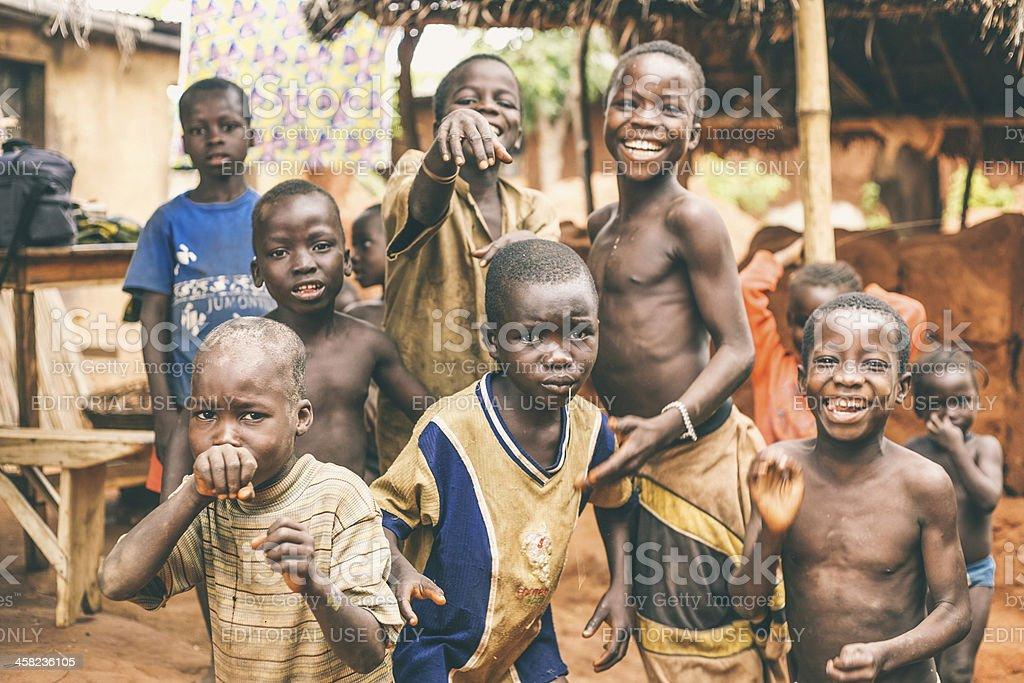 African crianças. - foto de acervo