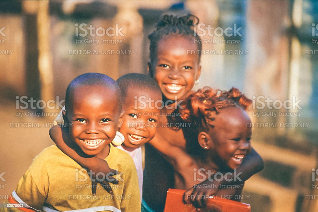 African kids. stock photo