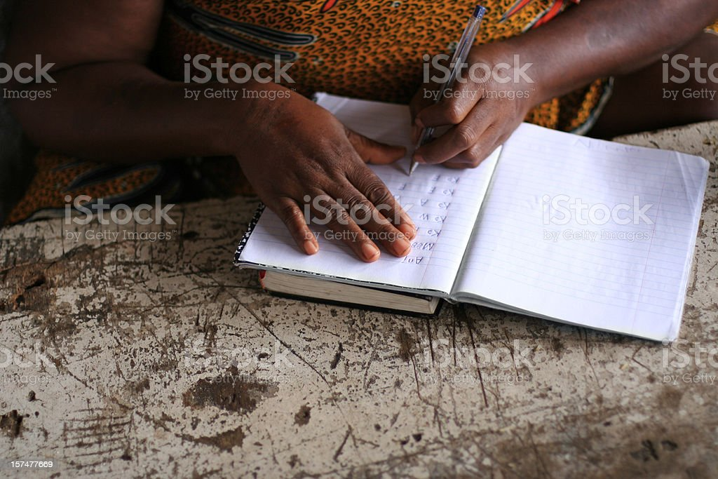 African Lady Writing stock photo