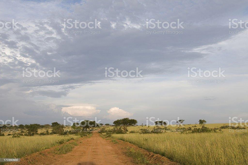 African Landscape in Uganda royalty-free stock photo
