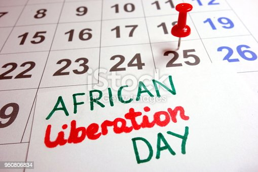 897726350 istock photo African Liberation Day date 950806834