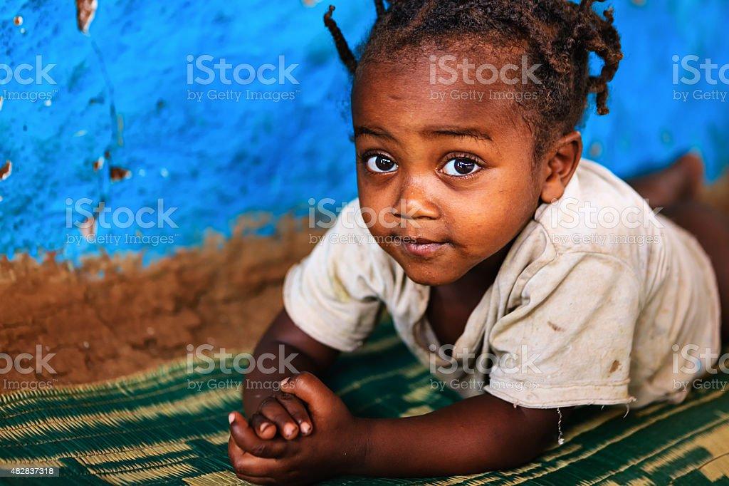 African little girl, Ethiopia, East Africa stock photo