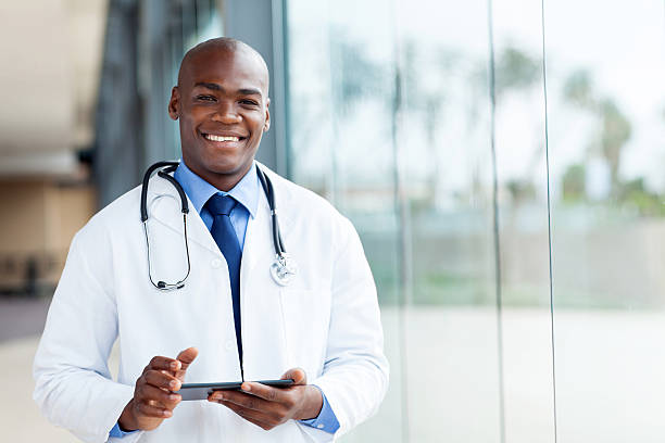 african male doctor stock photo