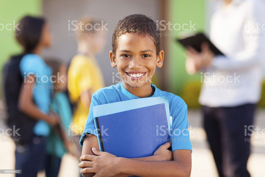 african male elementary school student stock photo
