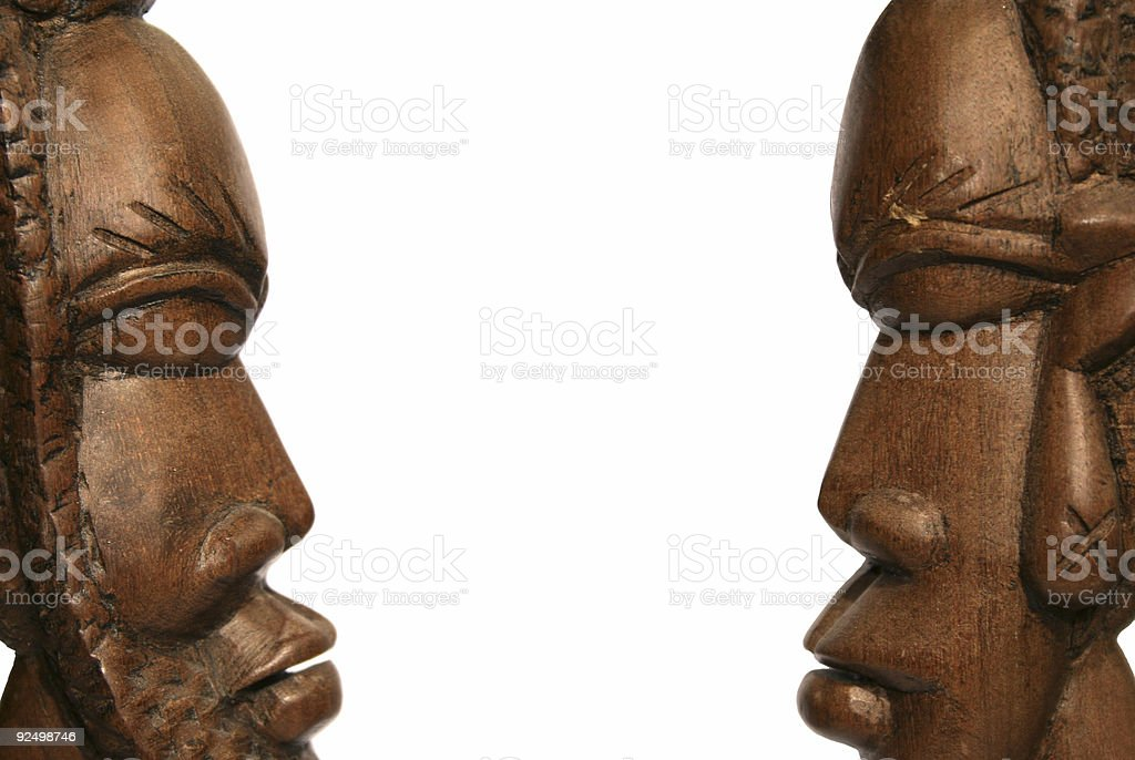 african man and woman royalty-free stock photo