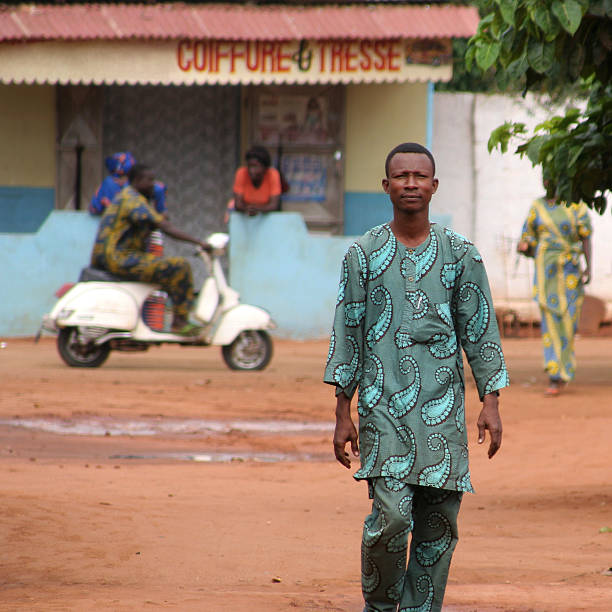 african man at home street stock photo