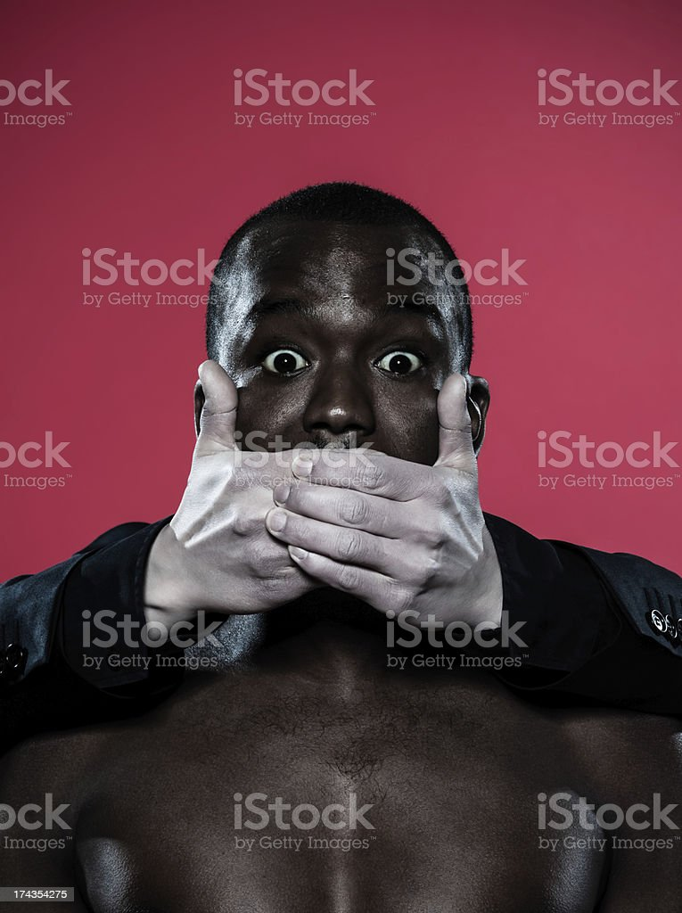 african man Freedom of speech concept royalty-free stock photo