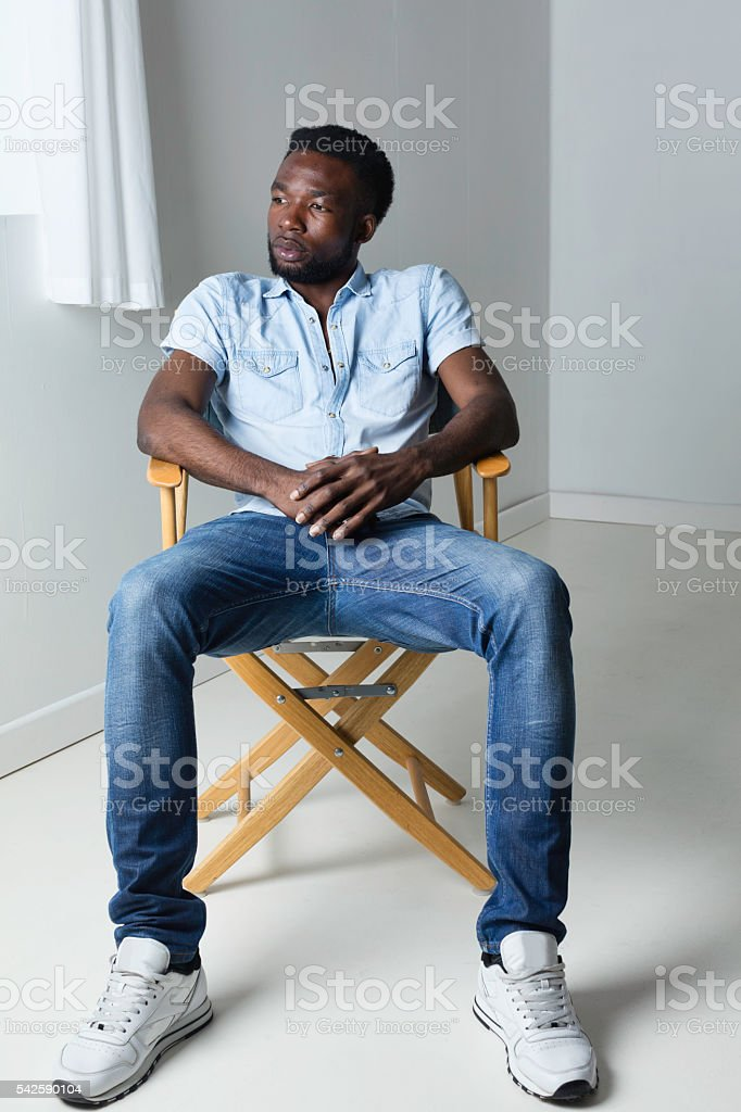 African Man In Casual Clothes stock photo