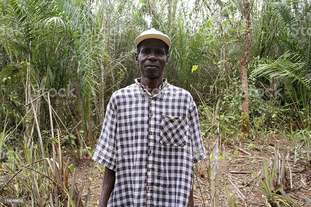 african man in the bush royalty-free stock photo