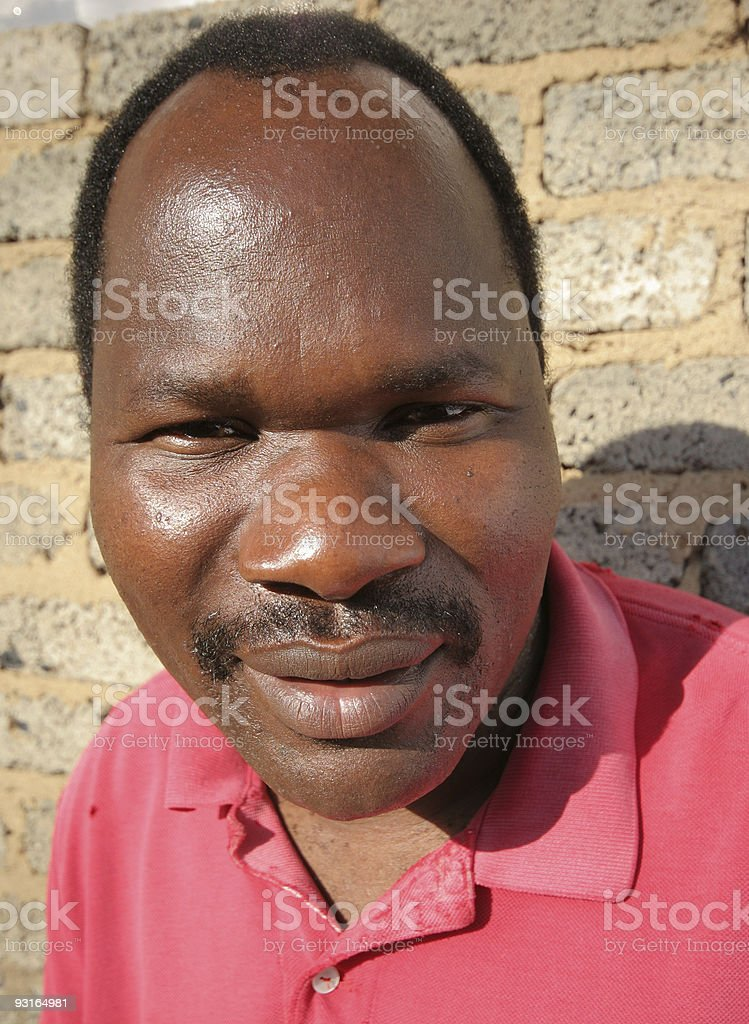 African Man Portrait Close Up stock photo