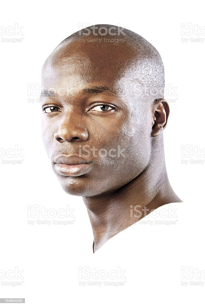 African man portrait stock photo