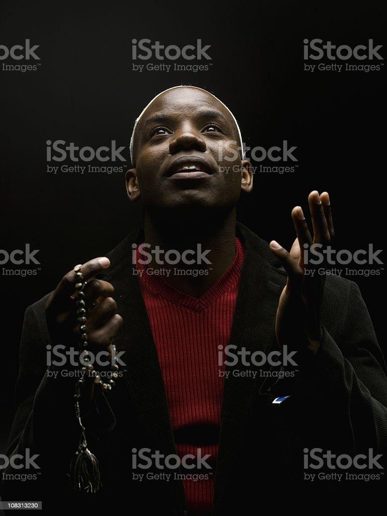 African Man Praying stock photo