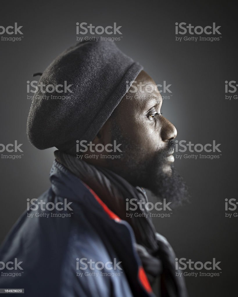 African man profile royalty-free stock photo