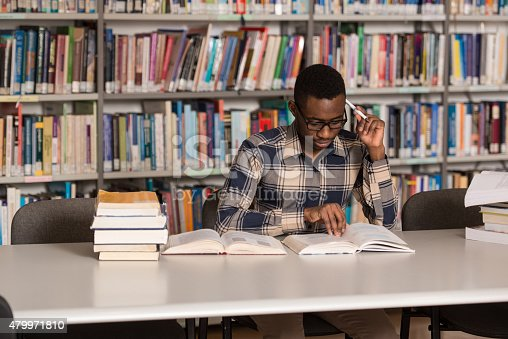 istock African Man Studying In A Library 479971810