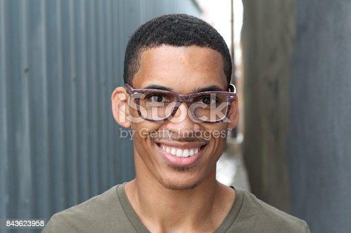istock African man wearing glasses portrait 843623958