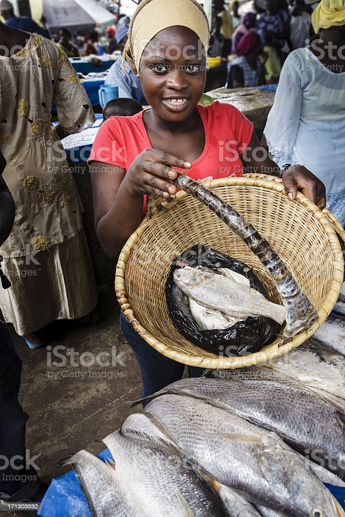 African market stock photo