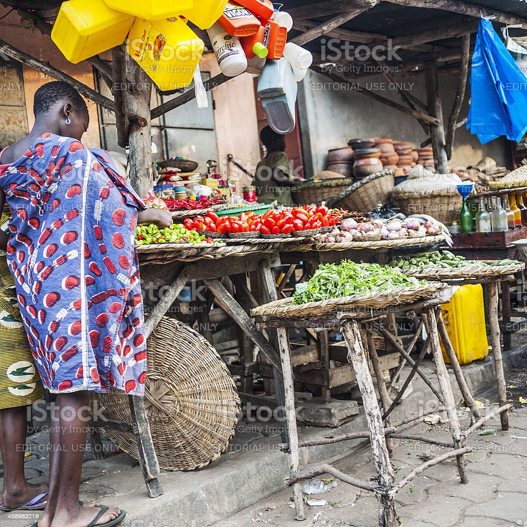African market. stock photo