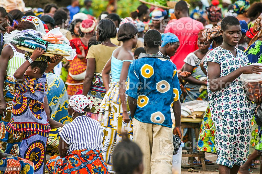 African market scene. stock photo