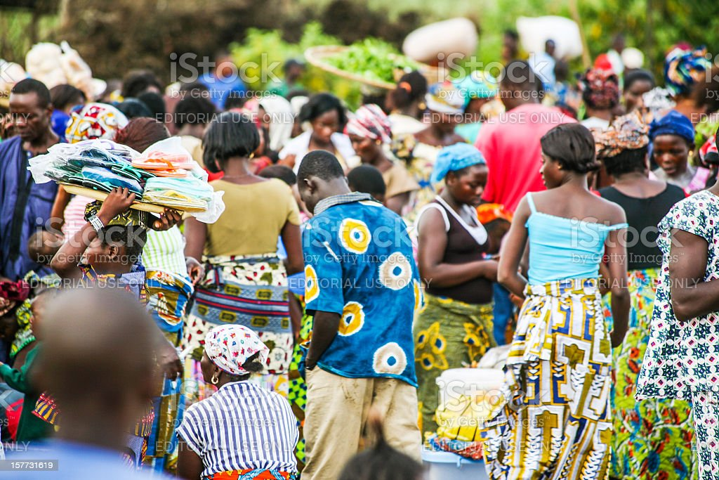 African market scene. royalty-free stock photo
