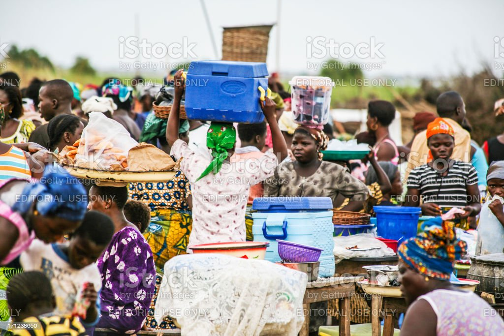 African market scene. royalty-free stock photo