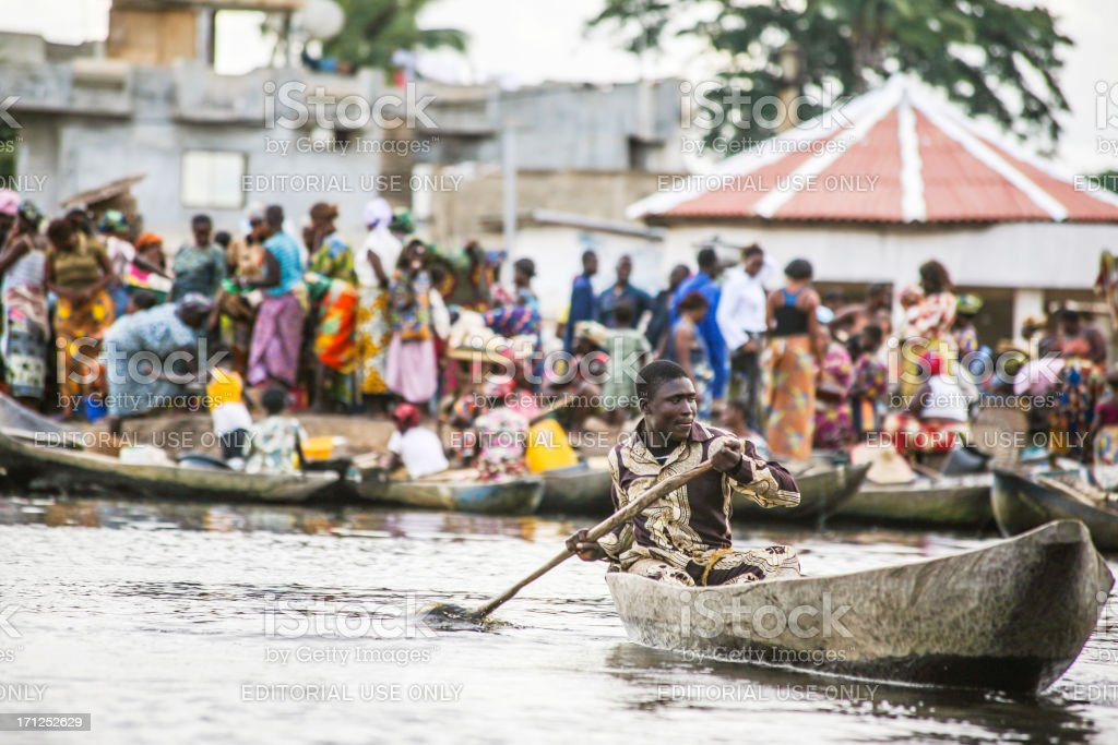 African market scene. stock photo