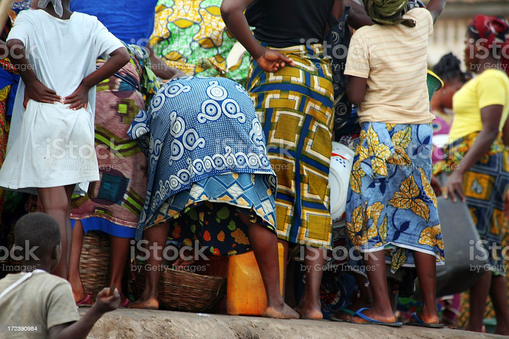 african market scene royalty-free stock photo